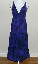 Moda International Women's Ladies Sleeveless Maxi Dress Size 14 Purple Sheer