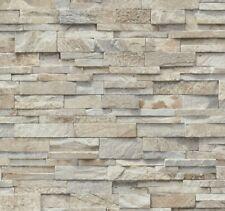Vliestapete P+S Stein Steine Mauer 3D Optik beige grau 02363-10 (1,91€/1qm)