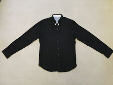 Markenlose Figurbetonte Unifarben Herren-Freizeithemden & -Shirts mit Button-Down-Kragen