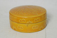 Chinese  Monochrome  Brown  Glaze  Porcelain  Box  With  Mark    M3317