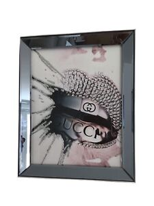 Sparkly Bling Picture In Large Mirrored Frame