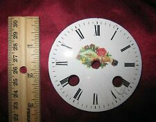 "Antique French Mantel Clock Porcelain Dial 3"" Parts"