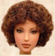 "15//16"" Curly Ponytails Strawberry Doll Wig Reborn OOAK BJD Ceramic Repair PATTI"