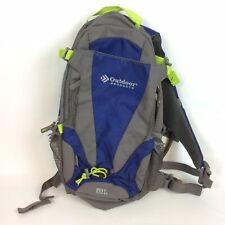 Outdoor Products Hydration Backpack Gray Blue 13L With Bladder Hiking Camping