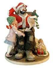 1990 Emmett Kelly Spirit of Christmas Vii Porcelain Figurine Limited 1112/3500