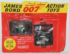 "1965 James Bond 007 ""M""s DESK & ATTACHE CASE Secret Agent Gun Gilbert Vintage"