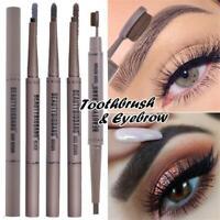 New Double Head Eyebrow Pencil Waterproof Long Lasting Eye brow Pen with Brush