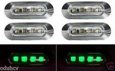 6x LED Seite grün Begrenzungsleuchten LKW LKW Bus LKW Wohnmobil SUV 24V chrom
