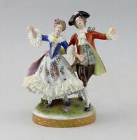 8640067 Porzellan-Figur Rokoko Spitzentänzerin Paar Älteste Volkstedt Thüringen