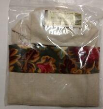 Longaberger Majolica Garden Flax Wine Bag Beverage Tote liner mint in bag