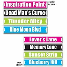 Pack of 8 Rock and Roll Street Signs - 10 x 61cm - 1950's Party Decoration