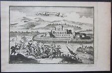 1708 PALOTTA map Sanson Jaillot Mortier Várpalota Közép-Dunántúl Magyarország