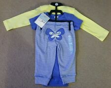 Carter's Baby Girl 3 PIECE SET Long Sleeve & Short Sleeve Vest & Pants BNWT 6M