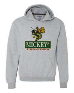 Mickeys Irish Malt Liquor Beer Hoodie 80s retro beer cotton graphic sweatshirt