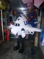 LAN Airplane Character Mascot Costume Cosplay White