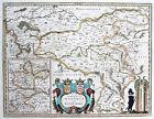Janssonius: Orig. vecchio colore Incisione Cartina geografica Ruhrgebiet