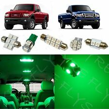 6x Green LED lights interior package kit for 1998-2011 Ford Ranger FR1G