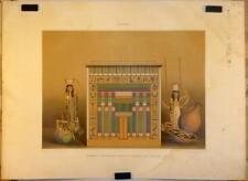 """Lithographie en couleurs par LEVIE, """"Tombeau égyptien"""""""