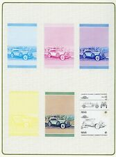 Nevis 1984 cars 2nd series complete as sets of 7 Progressive Proofs