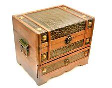 Schmuckkasten Holz im Antik Stil Schmuckkoffer Schmuckkästchen Schmuckschatulle