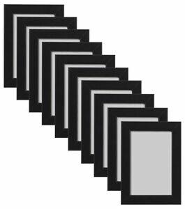 "10 x Black 6""x4"" Styrene Photo Picture Frame Wall Mount Landscape Or Portrait"