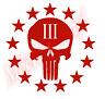 Punisher 3 Three Percenter Window Glass Vinyl Decal Sticker Gun Rights