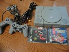 Sony PlayStation One PS1 Gray System  w/ 2 Controllers