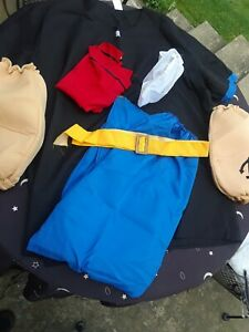Popeye adult standard costume. 7 Pieces, no pipe. shirt, pants, hat,-see pics
