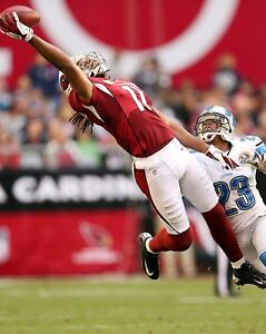 LARRY FITZGERALD 8X10 PHOTO ARIZONA CARDINALS PICTURE NFL FOOTBALL 1 HAND CATCH