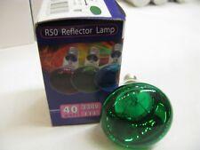 5 x Skytronic GREEN 40W E14 SES R50 50mm Reflector Spot Light Lamps 230V Job Lot