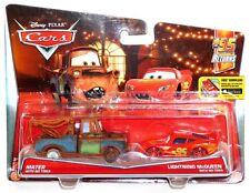 Disney Cars #95 Returns 6 & 7 of 7 Mater Lightning McQueen No Tires Diecast Set!