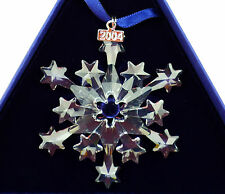 MINT Swarovski 2004 Annual Christmas Ornament STAR/SNOWFLAKE  631562   C27