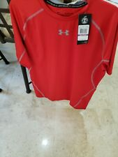 UNDER ARMOUR HEATGEAR RED COMPRESSION RUNNING TRAINING S/S T-SHIRT XXL NWT
