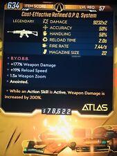 Borderlands 3 OPQ System 200% Damage Action Skill Active MAYHEM 10 Level 57 XBOX