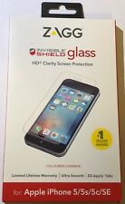 NEW ZAGG Invisible Shield Glass HD Screen Protector for iPhone SE / 5s / 5 / 5c