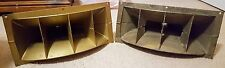 Pair of Vintage Lansing Altec 802-8D 8 Ohm Drivers and H-811B Horns - Tested