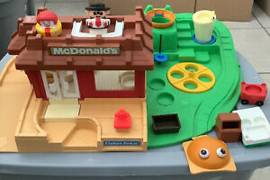 Vintage Fisher-Price Little People McDonald's Restaurant Playset near complete