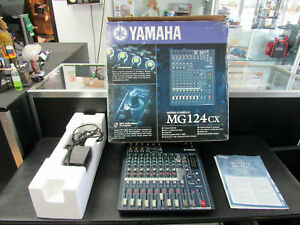 MInt Yamaha MG124Cx 12 channel 4 Buss Mixer mic pre amps built in effects QIK SH
