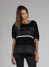 Maglie e camicie da donna lunghezza lunghezza ai fianchi con barchetta taglia M