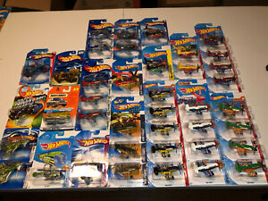 Hot Wheels Airplanes Lot Mad Propz, Poison Arrow Daredevil. VHTF. Lot Of 41.