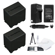 2x BN-VG138 Battery + Charger for JVC GZ-EX555 GX1 HD500 HD510 HD550 HD620