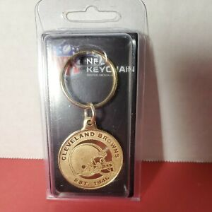Cleveland Browns NFL Coin Keychain Highland Mint Made In USA Metal Gold New