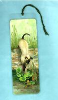 Cat Bookmark Kitten Frog Siamese Toad Pond Drawing Painting Print Art Hockin