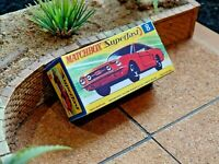MATCHBOX SUPERFAST NO.8 FORD MUSTANG CUSTOM REPLACEMENT DISPLAY/STORAGE BOX