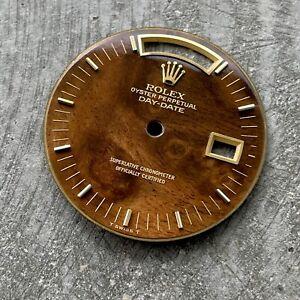 Original Rolex Wood Dial President 18038 18238 - Factory Original + Perfect