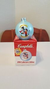 Vintage Collectible 1998 Campbell's Soup Ball Christmas Ornament