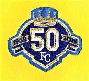 KANSAS CITY ROYALS 50th ANNIVERSARY 1969-2018 JERSEY BLUE PATCH