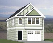 20x40 House -- 2 Bedroom 1.5 Bath -- 1,077 sq ft -- PDF Floor Plan -- Model 8A