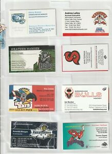 (64) DIFFERENT CHL ECHL SPHL UHL HOCKEY BUSINESS CARDS  SOME DEFUNCT TEAMS