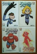Fantastic Four #1-4 Skottie Young Variant Set--Marvel 2018 1st Prints--VFN+